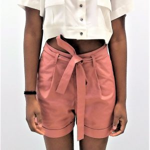 Heavy Cotton Pleated Shorts Yulia Malisaki SS18