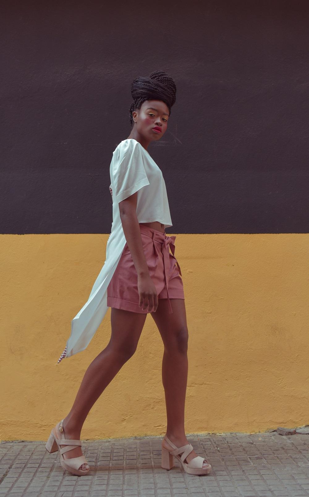Heavy Cotton Pleated Shorts Yulia Malisaki SS2018