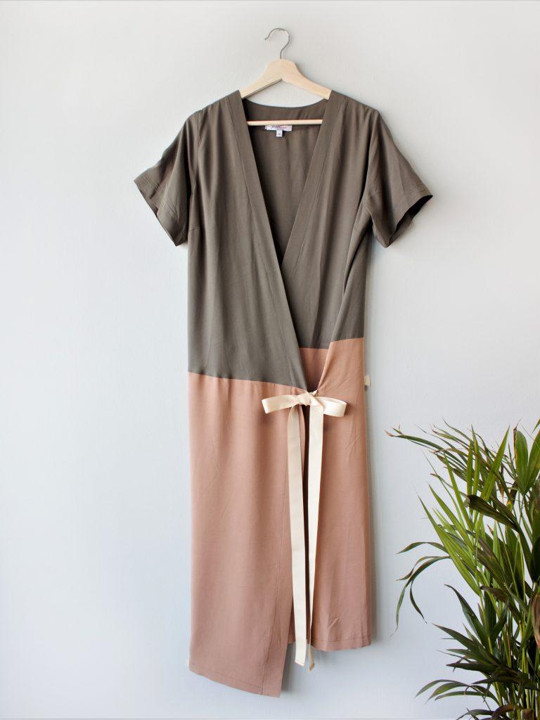 Color Block Wrap Dress Yulia Malisaki SS2018 (1)
