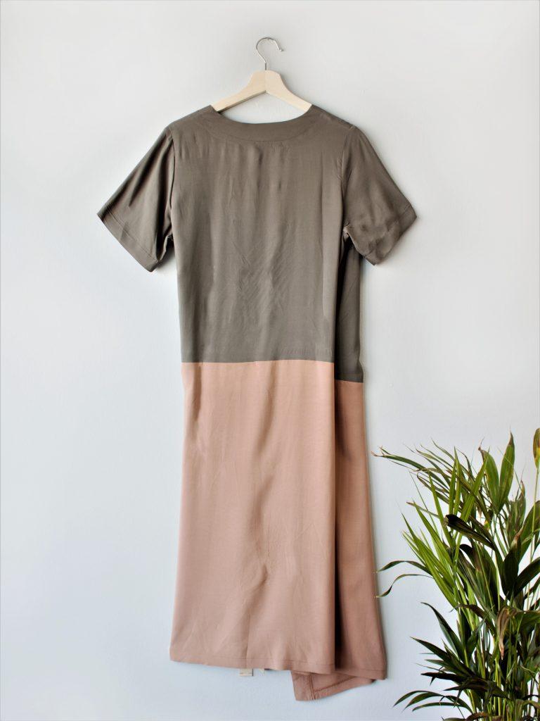 Color Block Wrap Dress Yulia Malisaki SS2018 (3)