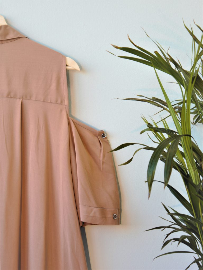 Silky Viscose Cold Shoulder Button Up Dress Yulia Malisaki SS18