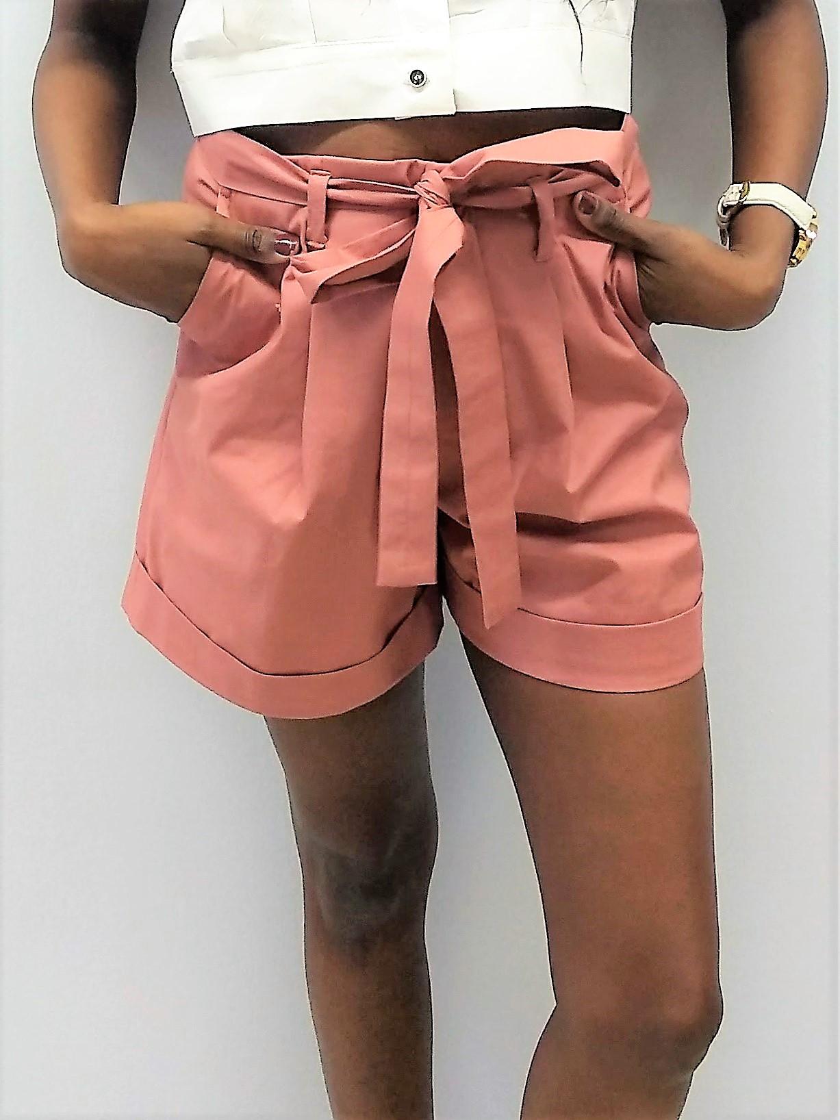 Heavy Cotton Pleated Shorts Yulia Malisaki SS18