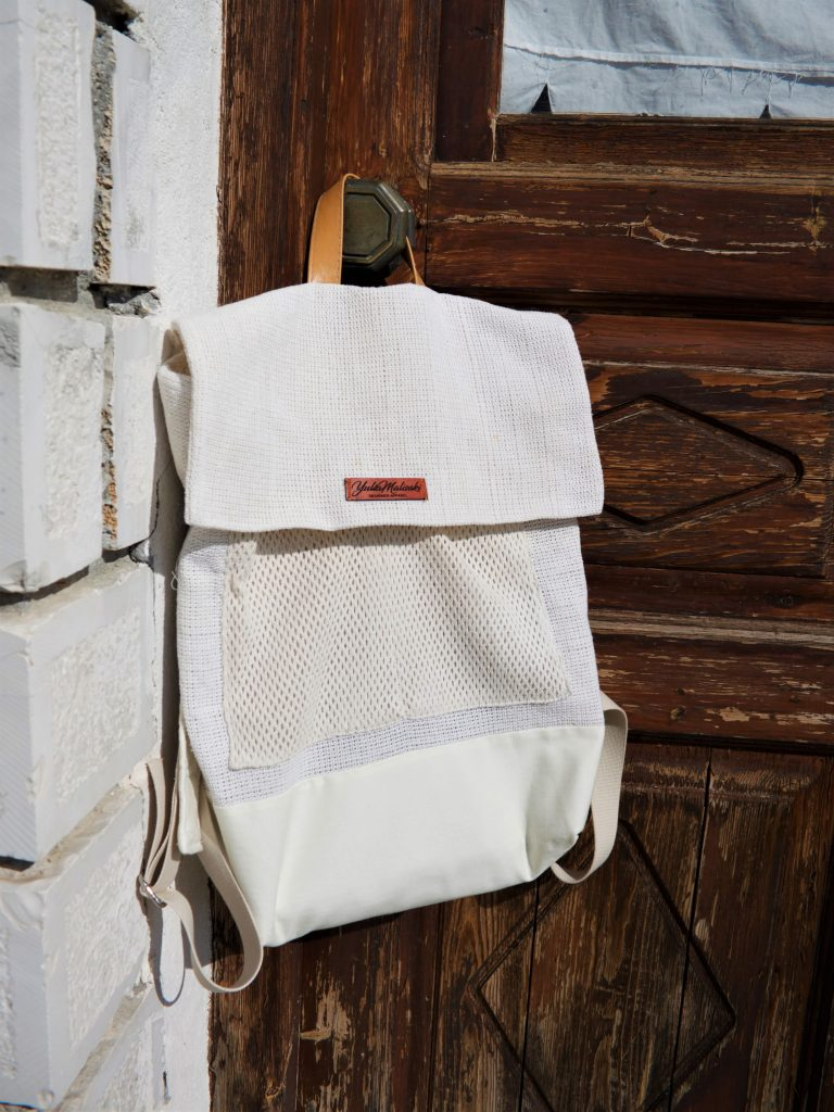 Off white canvas rucksack