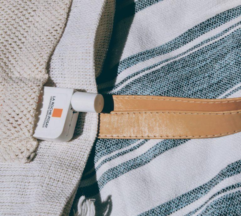 Off white beach bag